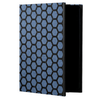 HEXAGON2 BLACK MARBLE & BLUE DENIM (R) POWIS iPad AIR 2 CASE