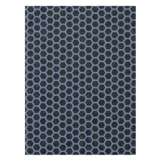 HEXAGON2 BLACK MARBLE & BLUE DENIM TABLECLOTH