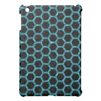 HEXAGON2 BLACK MARBLE & BLUE-GREEN WATER iPad MINI CASE