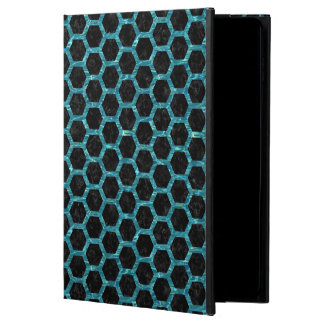 HEXAGON2 BLACK MARBLE & BLUE-GREEN WATER POWIS iPad AIR 2 CASE