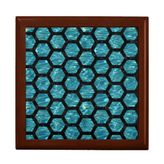HEXAGON2 BLACK MARBLE & BLUE-GREEN WATER (R) GIFT BOX