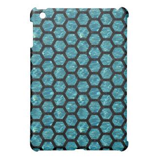 HEXAGON2 BLACK MARBLE & BLUE-GREEN WATER (R) iPad MINI CASE
