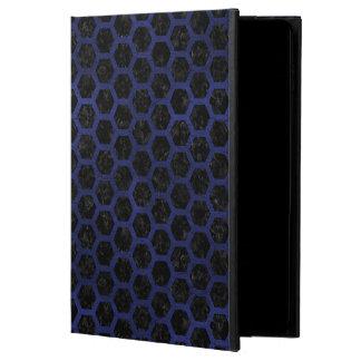 HEXAGON2 BLACK MARBLE & BLUE LEATHER POWIS iPad AIR 2 CASE