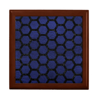 HEXAGON2 BLACK MARBLE & BLUE LEATHER (R) GIFT BOX