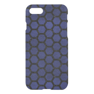 HEXAGON2 BLACK MARBLE & BLUE LEATHER (R) iPhone 8/7 CASE