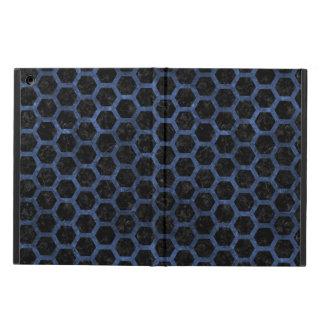 HEXAGON2 BLACK MARBLE & BLUE STONE COVER FOR iPad AIR