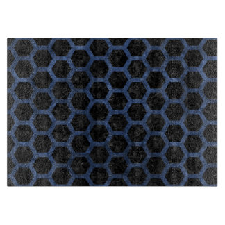 HEXAGON2 BLACK MARBLE & BLUE STONE CUTTING BOARD