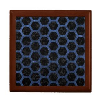 HEXAGON2 BLACK MARBLE & BLUE STONE GIFT BOX