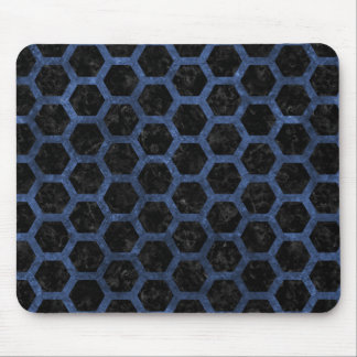 HEXAGON2 BLACK MARBLE & BLUE STONE MOUSE PAD