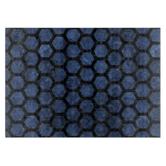 HEXAGON2 BLACK MARBLE & BLUE STONE (R) CUTTING BOARD