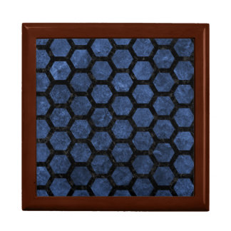 HEXAGON2 BLACK MARBLE & BLUE STONE (R) GIFT BOX