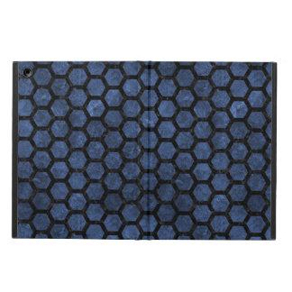 HEXAGON2 BLACK MARBLE & BLUE STONE (R) iPad AIR COVER