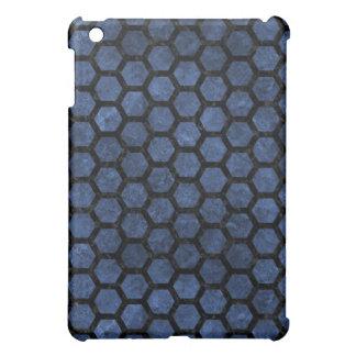 HEXAGON2 BLACK MARBLE & BLUE STONE (R) iPad MINI CASES