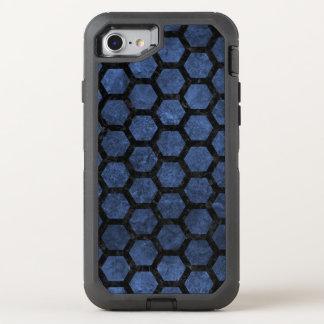 HEXAGON2 BLACK MARBLE & BLUE STONE (R) OtterBox DEFENDER iPhone 8/7 CASE