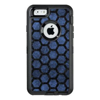 HEXAGON2 BLACK MARBLE & BLUE STONE (R) OtterBox DEFENDER iPhone CASE