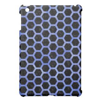 HEXAGON2 BLACK MARBLE & BLUE WATERCOLOR COVER FOR THE iPad MINI
