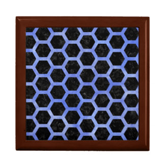 HEXAGON2 BLACK MARBLE & BLUE WATERCOLOR GIFT BOX