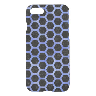 HEXAGON2 BLACK MARBLE & BLUE WATERCOLOR iPhone 8/7 CASE