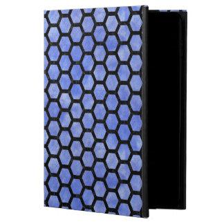 HEXAGON2 BLACK MARBLE & BLUE WATERCOLOR (R) POWIS iPad AIR 2 CASE