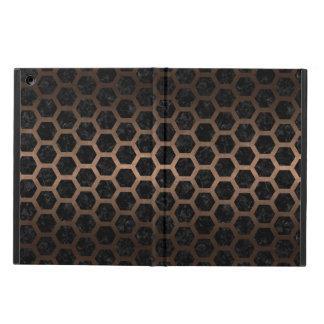 HEXAGON2 BLACK MARBLE & BRONZE METAL CASE FOR iPad AIR