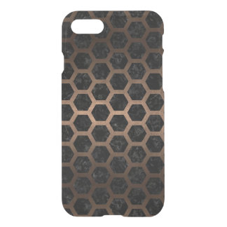 HEXAGON2 BLACK MARBLE & BRONZE METAL iPhone 8/7 CASE
