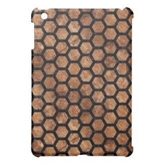 HEXAGON2 BLACK MARBLE & BROWN STONE (R) iPad MINI COVERS