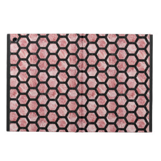 HEXAGON2 BLACK MARBLE & RED & WHITE MARBLE (R) CASE FOR iPad AIR