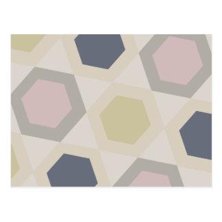 Hexagon Bliss Postcard