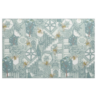 hexagon city fabric