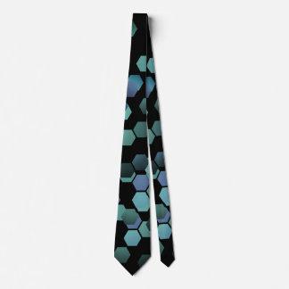 Hexagon geometric futuristic fashion tie