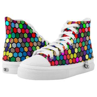 Hexagon High Top Sneakers