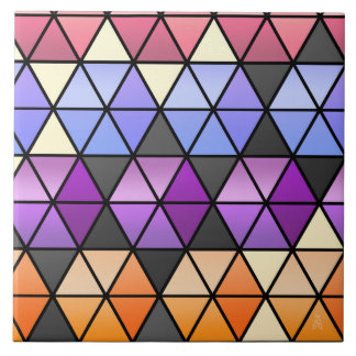 Hexagon Quilt in Lilac, Orchid, Orange + Rose Ceramic Tile