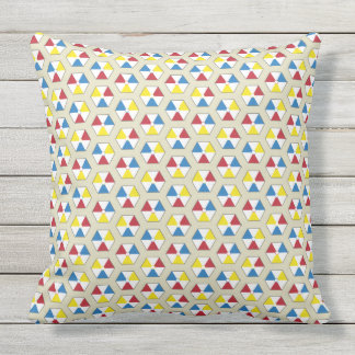 Hexagonal Beach Balls Throw Pillow