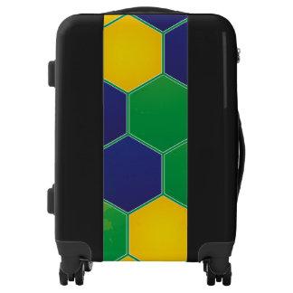 Hexagonal Brazil Design Luggage