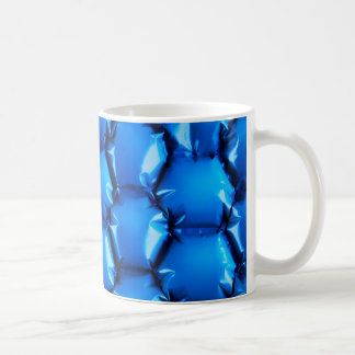Hexagonal bubble texture background coffee mug