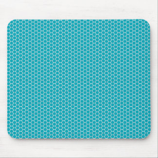 Hexagonal Patterns Light Blue Personalize Mousepad