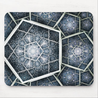Hexagons depth mouse pad