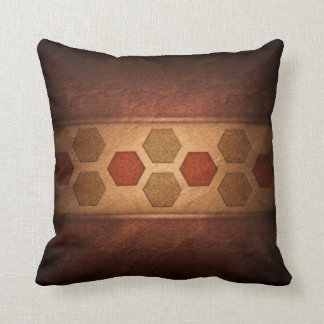 Hexagons in Color Separation Design Pillow