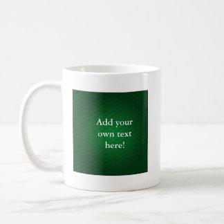Hexagons in Green Coffee Mug