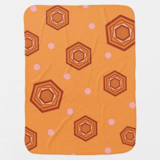 Hexagons Sherbet Orange Baby Blanket