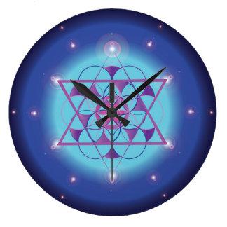 Hexagram, sacred geometry large clock