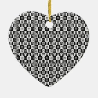 Hexagrams pattern ceramic ornament