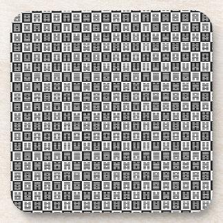 Hexagrams pattern coaster