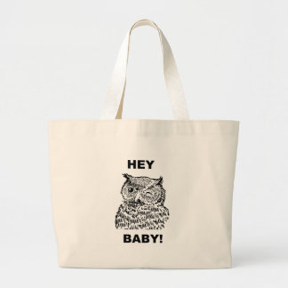 Hey Baby Large Tote Bag