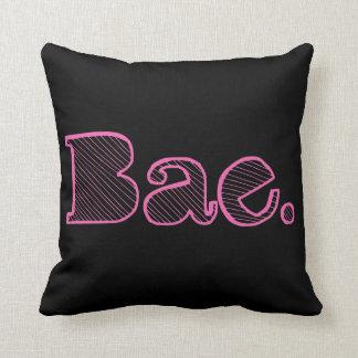 Hey Bae. girlfriend boyfriend slang Throw Cushions
