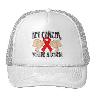 Hey Blood Cancer You're a Loser Mesh Hats