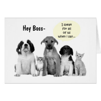 HEY BOSS WE ALL SAY HAPPY BIRTHDAY GREETING CARDS