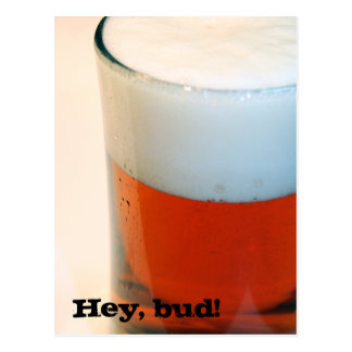 Hey, bud! postcard