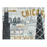 Hey Chicago Vintage Postcard