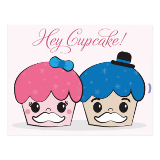 Hey Cupcake Postcard